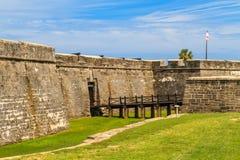St. Augustine Fort, Castillo de San Marcos National Monument Stock Image