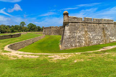 St. Augustine Fort, Castillo de San Marcos Stock Photo