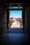 St Augustine Fort Florida Landscape Photographie stock