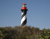 St Augustine Light House. Old St Augustine light house with black and white spirals royalty free stock photography