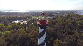 St Augustine light house stock video footage
