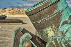 St Augustine Mortar i HDR Royaltyfria Bilder