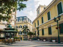 St. Augustine's Church Square, Macau , China. Royalty Free Stock Image