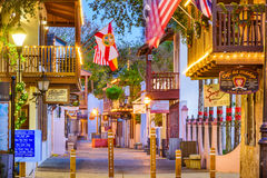 St. Augustine Shopping Street Stock Image