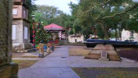 St Augustine stadsvierkant stock videobeelden