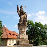 St Augustine statue, Prague. Stock Photos