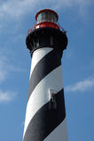 St Augustine Striped Lighthouse Tower Stock Photo