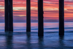 St Augustine Sunrise Under The Pier Stock Foto's