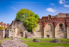 St Augustines Abbey Benedictine monastery remains in Canterbury Royalty Free Stock Photography