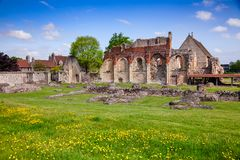 St Augustines Abbey Benedictine monastery remains in Canterbury Stock Image