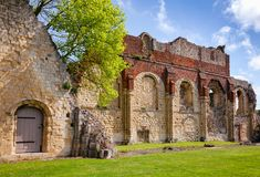 St Augustines Abbey Benedictine monastery remains in Canterbury Stock Photography
