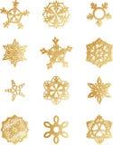 ställ in snowflaken royaltyfri foto