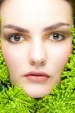 stäng makeup upp kvinna Royaltyfria Bilder
