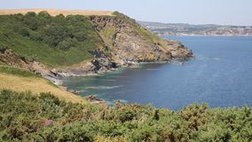 St Austell Bay from Black Head headland Cornwall Royalty Free Stock Image