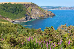St Austell Bay Cornwall from Black Head Cornwall England Royalty Free Stock Image