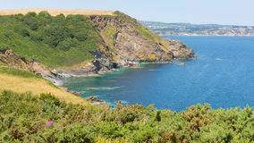 St Austell Bay Cornwall from Black Head Cornwall England Royalty Free Stock Photos
