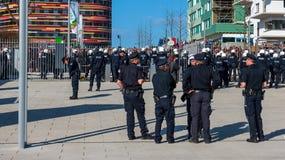 1st av den Maj protesten i Hamburg Royaltyfria Foton