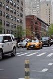 1st aveny i Manhattan Fotografering för Bildbyråer