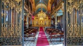 St búlgaro Stephen Church Iron Church en el cuerno de oro, Istan foto de archivo