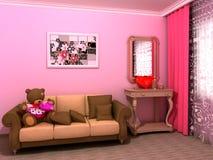 St. Babyroom de la tarjeta del día de San Valentín (childroom) Foto de archivo libre de regalías