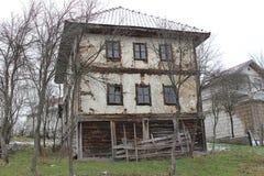 19st Balkan houten huis Stock Fotografie