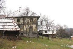 19st Balkan houten huis Royalty-vrije Stock Afbeeldingen