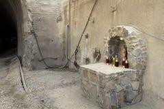 St. Barbara bevakar tunnelkonstruktionsplatsen Royaltyfria Bilder