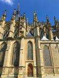 St Barbara Cathedral Kutnà ¡ Hora: Een Miner's-Kerk royalty-vrije stock fotografie