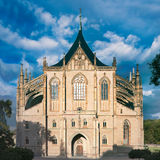 St. Barbara Cathedral near Prague Royalty Free Stock Photos