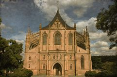St. Barbara cathedral - Vintage Royalty Free Stock Photo
