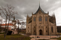 St. Barbara Church em Kutna Hora fotos de stock