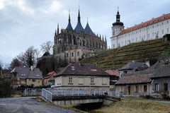 St. Barbara Church and Jesuit College, Kutna Hora Royalty Free Stock Photo