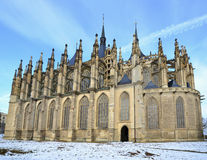St.Barbara Church in Kutna Hora,. St.Barbara Church in Kutna Hora belongs to the 12 UNESCO WORLD HERITAGE sites in Czech republic Stock Photography