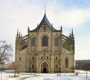 St.Barbara Church in Kutna Hora, Royalty Free Stock Images