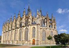 St.Barbara Church in Kutna Hora, Czech republic Stock Image