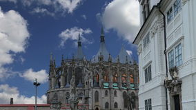 St. Barbara Church in Kutna Hora - one of the most famous Gothic churches in central Europe, Czech Republic stock video footage