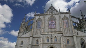 St. Barbara Church in Kutna Hora - one of the most famous Gothic churches in central Europe, Czech Republic stock video