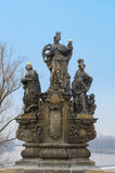 St. Barbara, Elizabeth and Margaret statue, Prague Stock Image