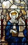 St Barbara in gebrandschilderd glas royalty-vrije stock afbeeldingen