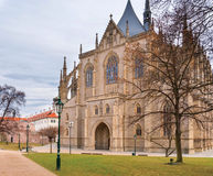 St. Barbara gothic cathedral in Kutna Hora Royalty Free Stock Photos