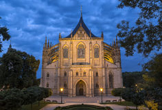 St Barbara kathedraal in Kutna Hora, Bohemen, Tsjechische Republiek Stock Foto's