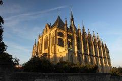 St. Barbara kerk in Kutna Hora royalty-vrije stock afbeelding