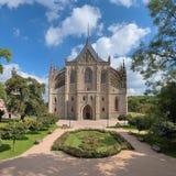 St. Barbara Kerk in Kutna Hora, Tsjechische Republiek royalty-vrije stock foto's