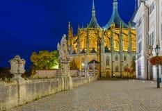 St Barbara kerk in stad Kutna Hora - Tsjechische Republiek stock fotografie
