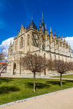 St.Barbara's Church (Cathedral) in Kutna Hora Stock Photography