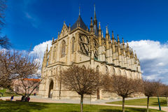 St.Barbara's Church (Cathedral) in Kutna Hora Royalty Free Stock Photography