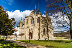 St.Barbara's Church (Cathedral) in Kutna Hora Royalty Free Stock Photo
