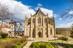 St.Barbara's Church (Cathedral) in Kutna Hora Royalty Free Stock Photos