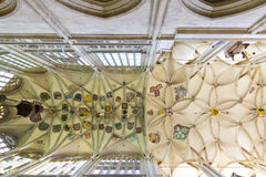 St. Barbara's Church - decorative ceiling inside Stock Image