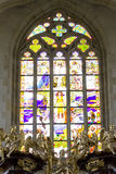 St. Barbaras Church - decorative window Stock Images